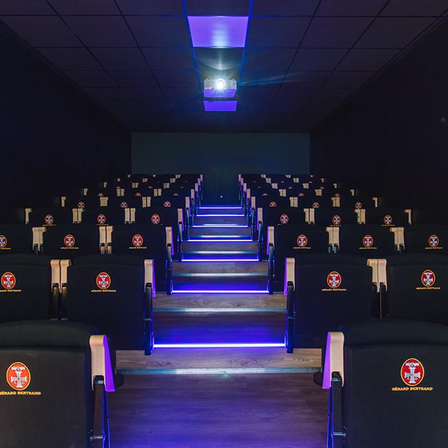 salle de projection boutique chateau l'Hospitalet